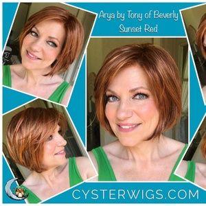 Tony of Beverly Gorgeous Red Orange Wig